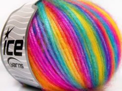 Lot of 8 Skeins Ice Yarns PICASSO Hand Knitting Yarn Rainbow