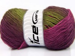 Lot of 4 x 100gr Skeins Ice Yarns RAINBOW Yarn Fuchsia Green Shades