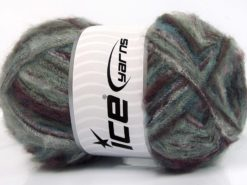 Lot of 4 x 100gr Skeins Ice Yarns SALE WINTER (37% Kid Mohair) Yarn Grey Shades Maroon Lilac Turquoise