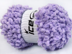 Lot of 4 x 100gr Skeins Ice Yarns CHENILLE LOOP (100% MicroFiber) Yarn Light Lilac