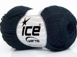 Lot of 8 Skeins Ice Yarns TUBE COTTON FINE (67% Cotton) Hand Knitting Yarn Navy