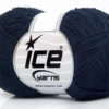 Lot of 8 Skeins Ice Yarns MUSTANG COTTON (74% Cotton) Hand Knitting Yarn Navy