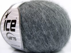 Lot of 10 Skeins Ice Yarns BABY ALPACA SUPERFINE (40% Baby Alpaca 10% Merino Wool) Yarn Grey