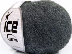 Lot of 10 Skeins Ice Yarns BABY ALPACA FINGERING (40% Baby Alpaca 10% Merino Wool) Yarn Dark Grey