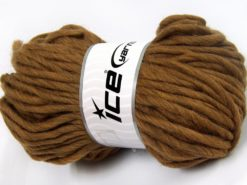 Lot of 4 x 100gr Skeins Ice Yarns PURE WOOL SUPERBULKY (100% Australian Wool) Yarn Light Brown