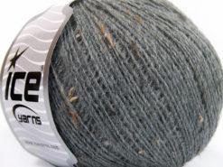 Lot of 8 Skeins Ice Yarns POP WOOL TWEED (50% Wool 10% Viscose) Yarn Grey