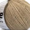 Lot of 8 Skeins Ice Yarns WOOL FINE (50% Wool) Hand Knitting Yarn Beige