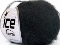 Lot of 10 Skeins Ice Yarns KID MOHAIR FINE (30% Kid Mohair) Yarn Black