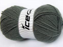 Lot of 4 x 100gr Skeins Ice Yarns FAVOURITE WOOL (50% Wool) Yarn Grey