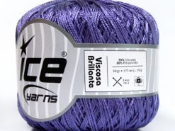 Lot of 6 Skeins Ice Yarns VISCOSA BRILLANTE (70% Viscose) Yarn Purple