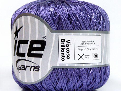 Lot of 6 Skeins Ice Yarns VISCOSA BRILLANTE (70% Viscose) Yarn Purple