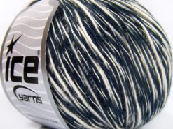 Lot of 8 Skeins Ice Yarns ZUCCHERO COTONE (55% Cotton) Yarn Anthracite Black White