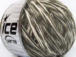 Lot of 8 Skeins Ice Yarns ZUCCHERO COTONE (55% Cotton) Yarn Khaki Cream