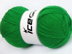Lot of 4 x 100gr Skeins Ice Yarns KRISTAL Hand Knitting Yarn Green