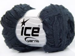 Lot of 8 Skeins Ice Yarns SAMBA RIBBON Hand Knitting Yarn Navy