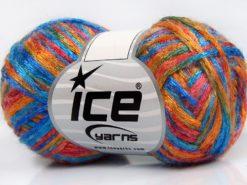 Lot of 8 Skeins Ice Yarns ALPHA CENTAURI (13% Mohair) Yarn Blue Shades Orange Red