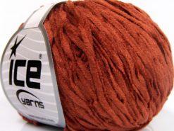 Lot of 8 Skeins Ice Yarns CHENILLE LIGHT (100% MicroFiber) Yarn Light Copper