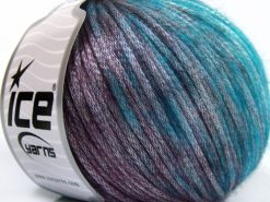 Lot of 8 Skeins Ice Yarns ROCK STAR COLOR (19% Merino Wool) Yarn Turquoise Shades Maroon