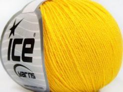 Lot of 8 Skeins Ice Yarns BABY MERINO SOFT (40% Merino Wool) Yarn Yellow