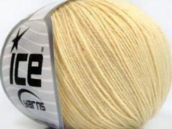 Lot of 8 Skeins Ice Yarns BABY MERINO SOFT (40% Merino Wool) Yarn Cream