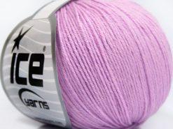 Lot of 8 Skeins Ice Yarns BABY MERINO SOFT (40% Merino Wool) Yarn Light Pink