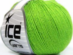 Lot of 8 Skeins Ice Yarns BABY MERINO SOFT (40% Merino Wool) Yarn Green