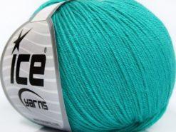 Lot of 8 Skeins Ice Yarns BABY MERINO SOFT (40% Merino Wool) Yarn Light Turquoise