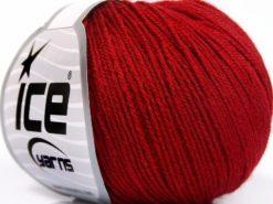 Lot of 8 Skeins Ice Yarns BABY MERINO SOFT (40% Merino Wool) Yarn Dark Red