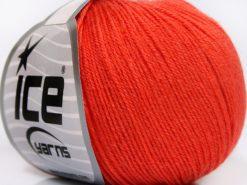 Lot of 8 Skeins Ice Yarns BABY MERINO SOFT (40% Merino Wool) Yarn Salmon