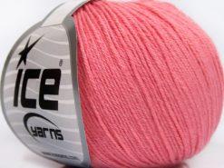 Lot of 8 Skeins Ice Yarns BABY MERINO SOFT (40% Merino Wool) Yarn Pink