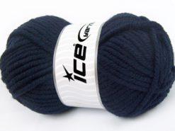 Lot of 4 x 100gr Skeins Ice Yarns ELITE WOOL SUPERBULKY (50% Wool) Yarn Dark Navy