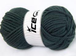 Lot of 4 x 100gr Skeins Ice Yarns ELITE WOOL SUPERBULKY (50% Wool) Yarn Dark Teal