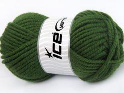 Lot of 4 x 100gr Skeins Ice Yarns ELITE WOOL SUPERBULKY (50% Wool) Yarn Green