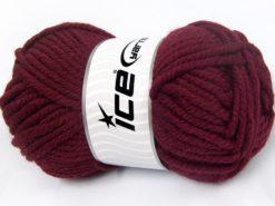 Lot of 4 x 100gr Skeins Ice Yarns ELITE WOOL SUPERBULKY (50% Wool) Yarn Burgundy