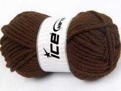 Lot of 4 x 100gr Skeins Ice Yarns ELITE WOOL SUPERBULKY (50% Wool) Yarn Dark Brown
