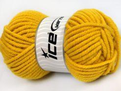 Lot of 4 x 100gr Skeins Ice Yarns ELITE WOOL SUPERBULKY (50% Wool) Yarn Dark Yellow