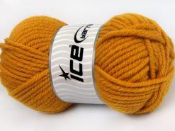 Lot of 4 x 100gr Skeins Ice Yarns ELITE WOOL SUPERBULKY (50% Wool) Yarn Gold