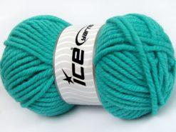 Lot of 4 x 100gr Skeins Ice Yarns ELITE WOOL SUPERBULKY (50% Wool) Yarn Turquoise