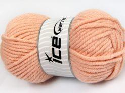 Lot of 4 x 100gr Skeins Ice Yarns ELITE WOOL SUPERBULKY (50% Wool) Yarn Light Salmon