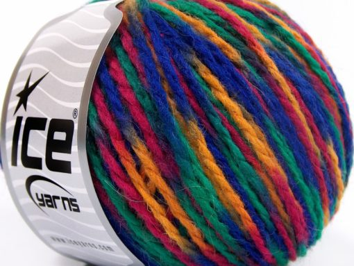Lot of 8 Skeins Ice Yarns WOOL WORSTED COLOR (50% Wool) Yarn Blue Green Fuchsia Yellow
