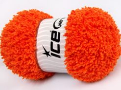 Lot of 4 x 100gr Skeins Ice Yarns BABY PUFFY Hand Knitting Yarn Orange