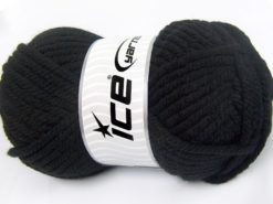 Lot of 2 x 200gr Skeins Ice Yarns SUPERWASH WOOL JUMBO (25% Superwash Wool) Yarn Black