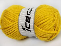 Lot of 2 x 200gr Skeins Ice Yarns SUPERWASH WOOL JUMBO (25% Superwash Wool) Yarn Dark Yellow