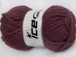 Lot of 2 x 200gr Skeins Ice Yarns SUPERWASH WOOL JUMBO (25% Superwash Wool) Yarn Rose Brown