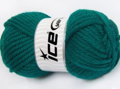 Lot of 2 x 200gr Skeins Ice Yarns SUPERWASH WOOL JUMBO (25% Superwash Wool) Yarn Emerald Green