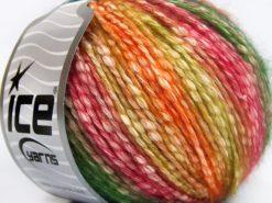 Lot of 8 Skeins Ice Yarns COTTON PASTEL (77% Cotton) Yarn Orange Gold Green Red