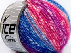 Lot of 8 Skeins Ice Yarns COTTON PASTEL (77% Cotton) Yarn Blue Shades Pink Shades