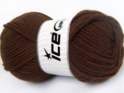Lot of 4 x 100gr Skeins Ice Yarns WOOL CHUNKY (30% Wool) Yarn Dark Brown