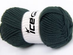 Lot of 4 x 100gr Skeins Ice Yarns WOOL CHUNKY (30% Wool) Yarn Dark Green