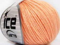 Lot of 8 Skeins Ice Yarns BABY MERINO SOFT DK (40% Merino Wool) Yarn Light Salmon